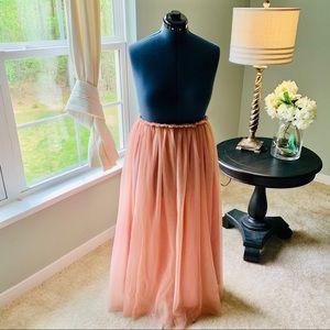 Custom Made Tulle Maxi Skirt Size 14-20